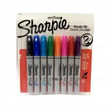 Marcador Sharpie x8 punta...
